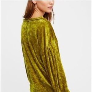 Free People Milan velvet velour sweater